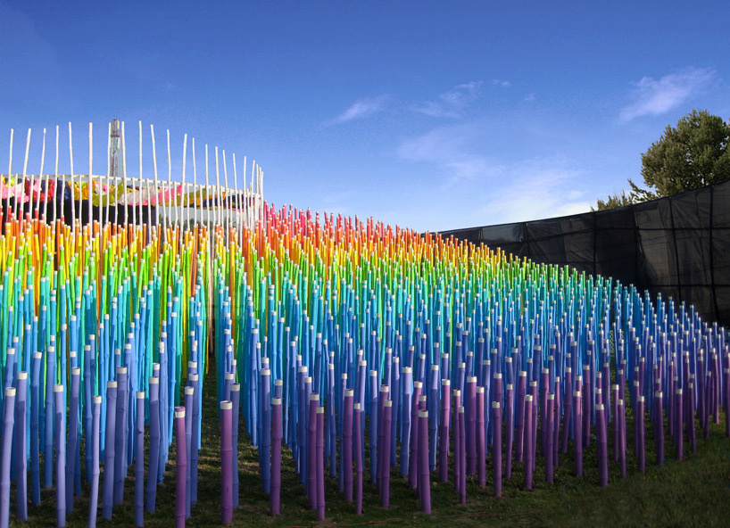 Bamboo Rainbow Lights Up A Temple Pavilion In Upcoming MoMA Exhibition | The Creators Project