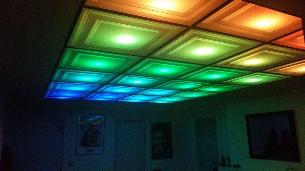 Transparent suspended ceiling tiles