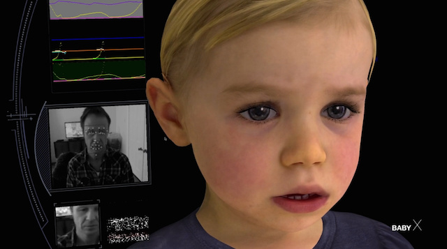 Baby X is even able to recognize faces.