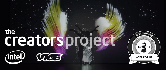 The Creators Project has been nominated for Webby Awards!