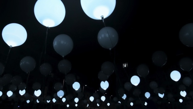 This Floating Sea Of LED Balloons Turns Music Into Dynamic