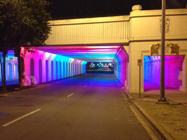 Thousands Of Led Lights Brought An Abandoned Underpass To