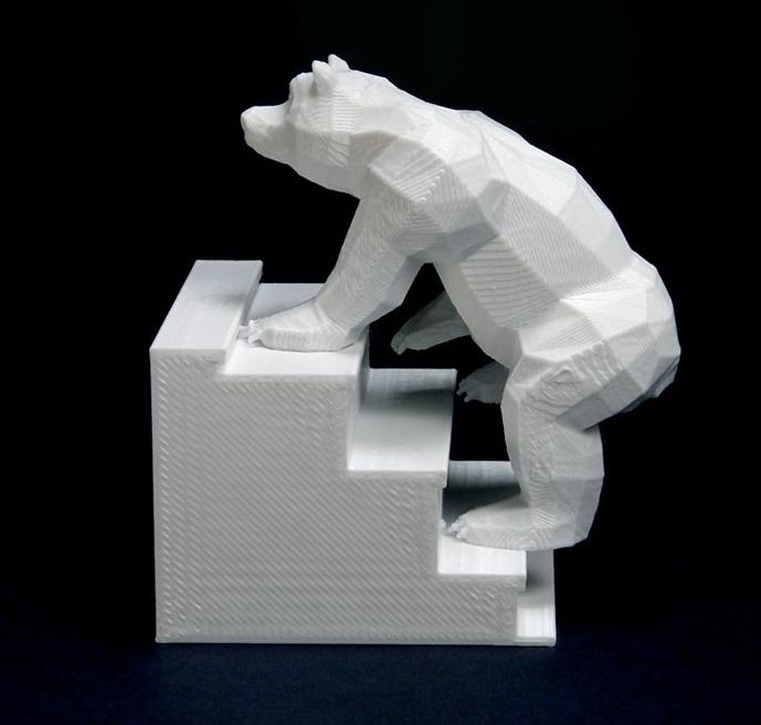 Oso sube escaleras impreso en 3D