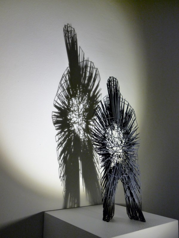3d printed wire sculptures transform shadows into stories for 3d wire art